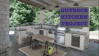 This is a beautiful Louisiana Outdoor Kitchen.