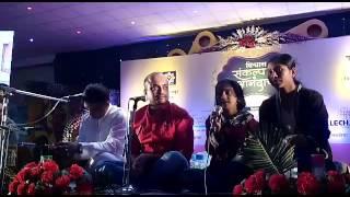 Renu singing her own poem along with poet Sandip khare & music composer Salil kulkarni