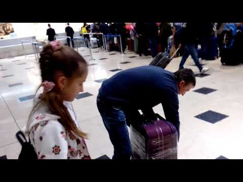 Аэропорт Анталия Турция табло стойки вес багажа ноябрь 2018