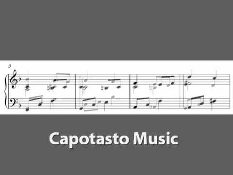 Free easy piano sheet music, Melody In F by Anton Rubinstein