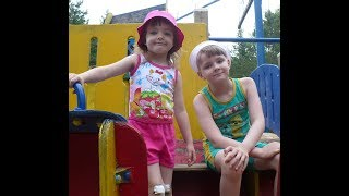 Papa and Milana on the playground video for kids