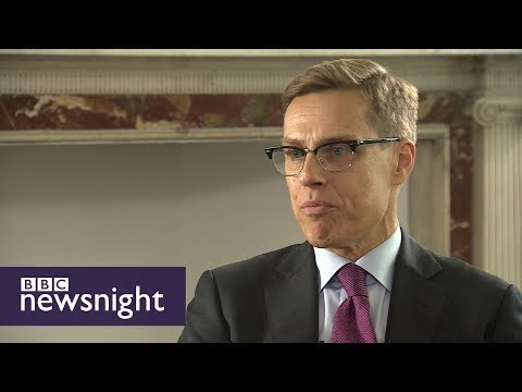 Alexander Stubb on Brexit, loyalty and Putin - BBC Newsnight