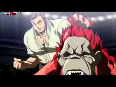 katsumi orochi vs red ape HD anime fight