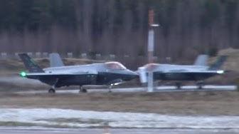 4K  Lockheed Martin F-35 Lightnings At Tampere-Pirkkala   HX Challenge 2020