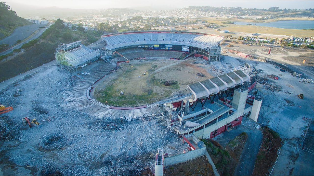 Candlestick Park Demolition From The Sky In 4k Youtube