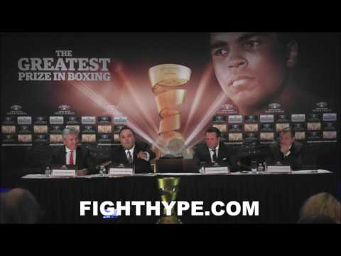 $50 MILLION ON THE LINE IN WORLD BOXING SUPER SERIES 16-FIGHTER TOURNAMENT; PLUS MUHAMMAD ALI TROPHY