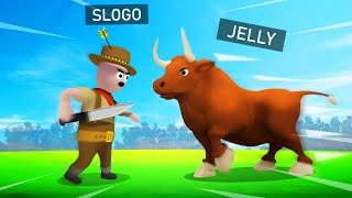JELLY vs. SLOGO In BULLFIGHTING! (Gangbeasts)