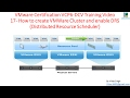 VMware Certification VCP6DCV Training  - 17 How to Create VMWare Cluster and enable VMWare DRS