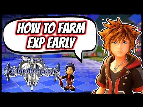 Kingdom Hearts 3 | How To Farm Exp Early