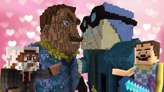 Minecraft Hello Neighbor - Giga Dantdm KISSES  Giga Neighbor??? (minecraft Roleplay)