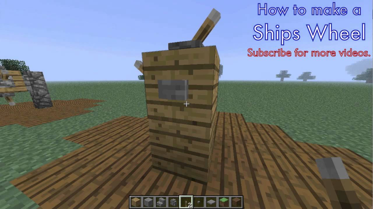 How To Build Ship Wheel Minecraft Tutorial Youtube