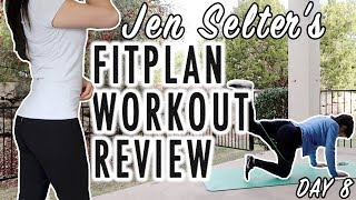 Reviewing Day 8 of Jen Selter Home Workout Routine | Fitplan App | Weight loss & Fitness
