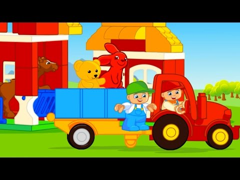 Cartoons für die Kleinen. 30 Minuten. Autos trickfilm. Kleine autos trickfilm. Traktor für Kinder.