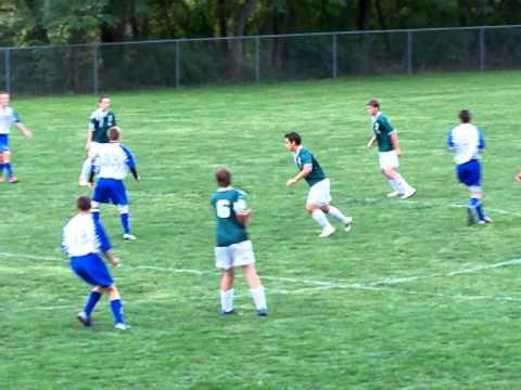 Trevor playing soccer in the Side Defender position