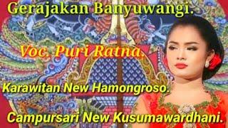 Lagu Gerajakan Banyuwangi - Voc. Puri Ratna - Campursari New Kusumawardhani