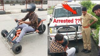 Making 3 wheel electric Go kart part-2 || with Police reactions