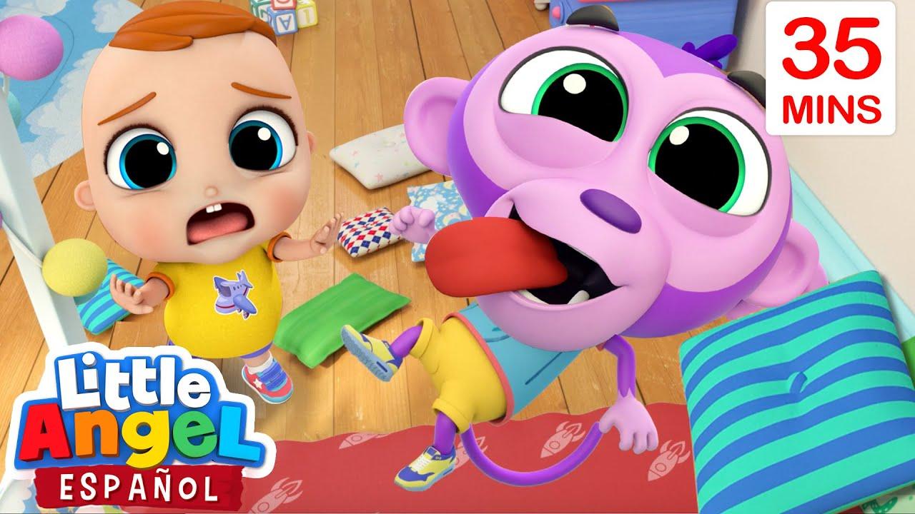 Bebé Juan enseña buenos modales a Bebé Mono | Canciones Infantiles de | Little Angel Español