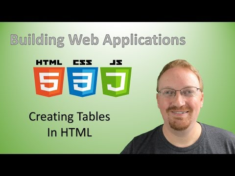 10. Building Web Applications: Creating Tables In HTML | HTML For Beginners 🌐
