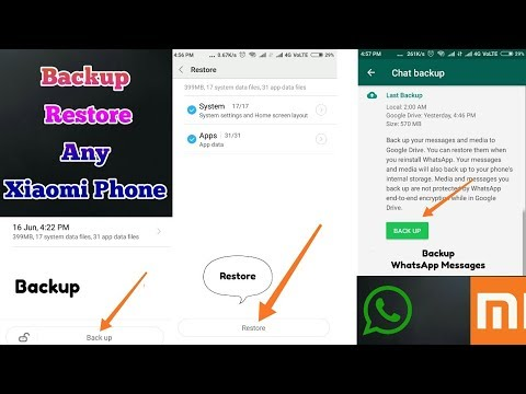 How To Backup And Restore Any Xiaomi Phone   Backup Redmi Note 5 Pro   WhatsApp Backup