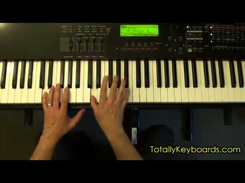 Surfer Girl Keyboard Piano Lesson Youtube