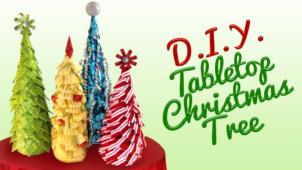 Diy Christmas Tree Table Decoration : Diy tabletop christmas tree