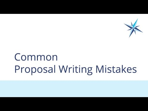 Common Proposal Writing Mistakes