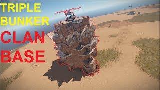 TRIPLE BUNKER CLAN BASE [Rust]