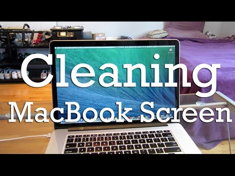 Cleaning a MacBook Pro screen - HighTechJoint