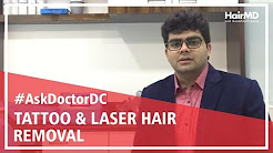 Does laser hair removal affect tattoos | HairMD, Pune