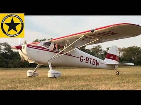 Cessna 120 Flight (Vintage 1947)