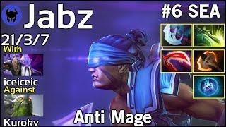 Jabz [Fnatic] plays Anti Mage!!! Dota 2 7.20