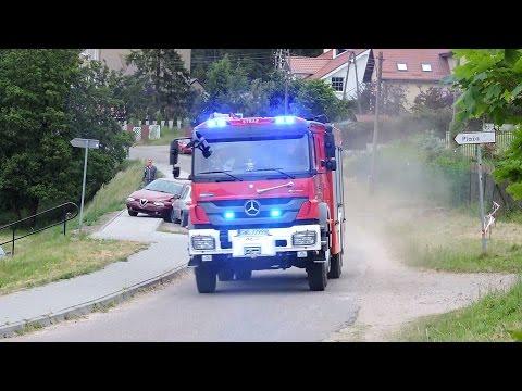 559[G]46 alarmowo. Ochotnicza Straż Pożarna w Kielnie na sygnale. Przejazd alarmowy