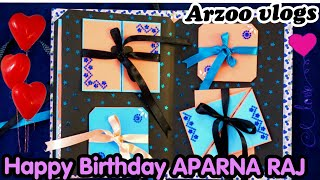 How to made Special Birthday Greeting Card for Sister | Multilayered Handmade card | ARZOO VLOGS