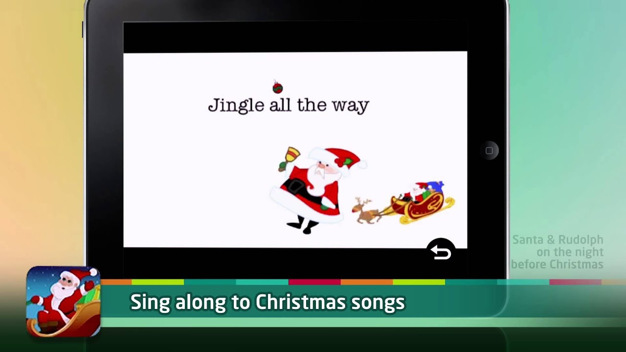 Santa & Rudolph on The Night Before Christmas App: Videos, Games ...