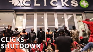 EFF members gathered outside Clicks stores across the country in protest against a racist hair product advert which the retailer posted on its website.  #EFF #Clicks ClicksMustFall