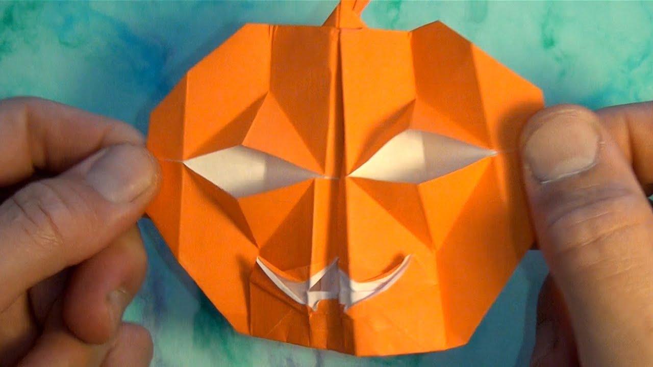 Origami blinking vampire jack o lantern youtube jeuxipadfo Choice Image