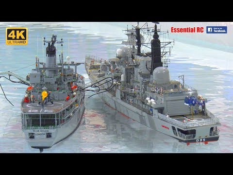 RC SHIP to SHIP RE-FUELLING / REPLENISHMENT (HMS Manchester & HMS Blue Rover)