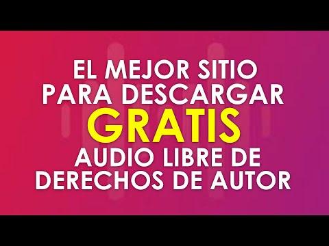 😱😱EL MEJOR sitio para descargar GRATIS audio y música  libre de derechos de autor😱😱