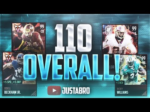 WOW...110 OVERALL! IT'S DONE! Highest Overall in the HISTORY of Madden Mobile 17!