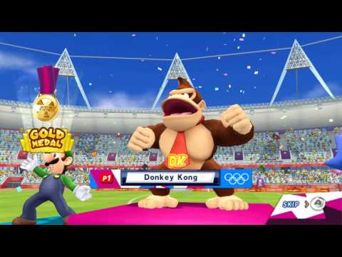 Mario & Sonic at the London 2012 Olympic Games (Wii) All Events 1st Place COM Level Hard