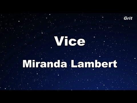 Vice - Miranda Lambert Karaoke 【No Guide Melody】 Instrumental