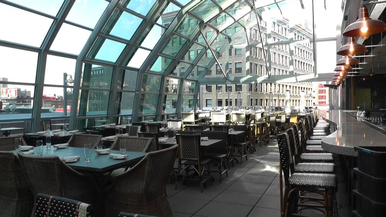 Union Restaurant Retractable Rooftop Youtube