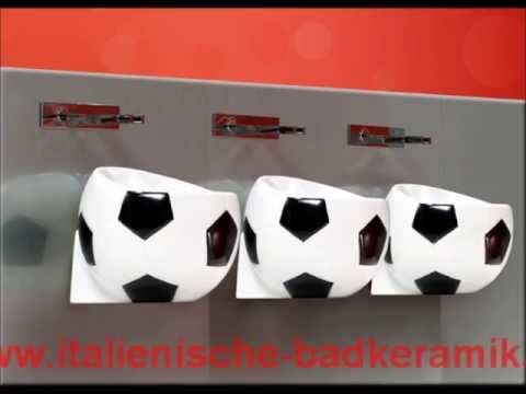 Waschbecken Stand rund 42x40cm weiß Waschtisch Keramik Waschsäule Bad neu.haus