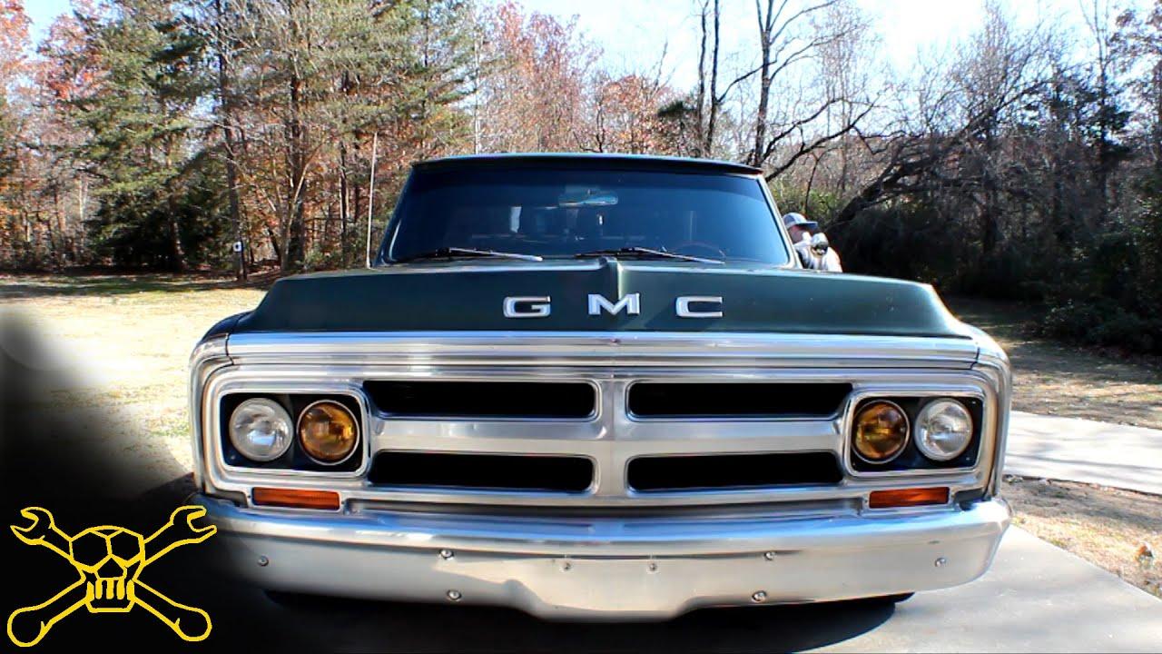 1969 Gmc Truck Lowered 1970 Gmc C15 Chevy C10 Youtube
