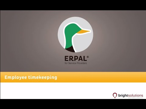 07 ERPAL for Service Providers - Employee timekeeping