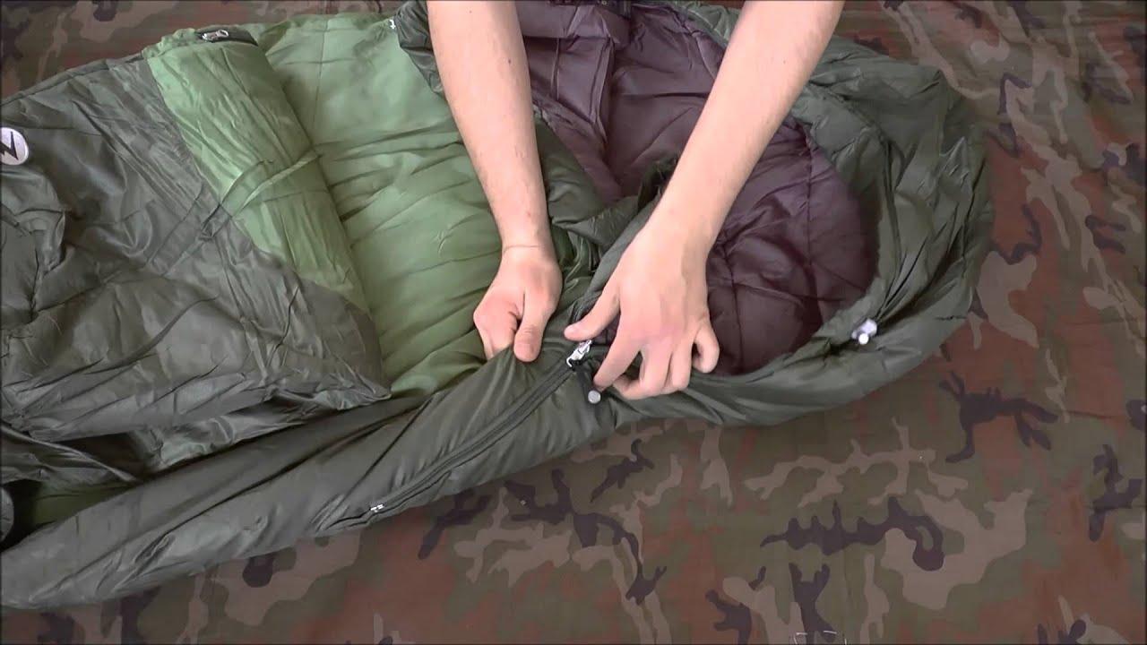 Зимний спальный мешок армии Италии - YouTube