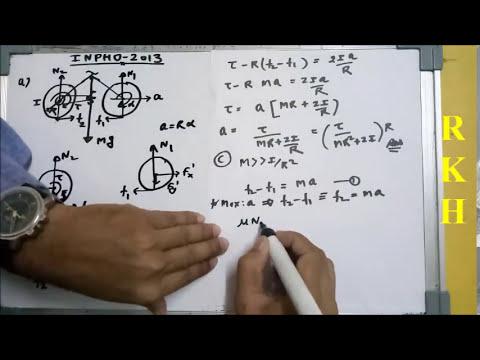 Bycyle problem of INPHO 2013(Rotational Mechanics)(Good level)