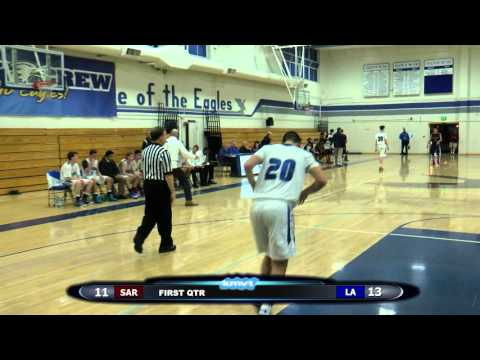 Saratoga Falcons vs Los Altos Eagles Boys Basketball - December 18, 2015