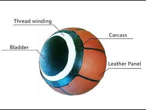 How to make a leather laminated basketball
