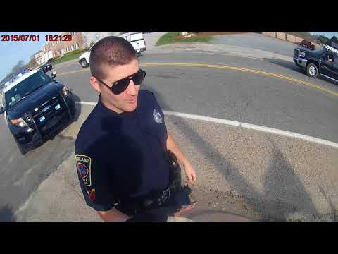 XR650L street trike, pulled over in Rockland MA